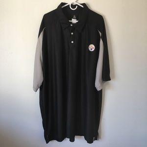 Men's Reebok Steelers Jersey Like Polo Shirt